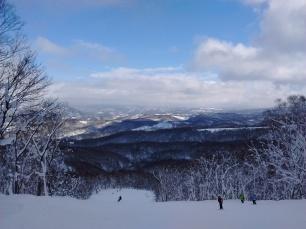 Sur une des pistes de ski de Rusutsu.